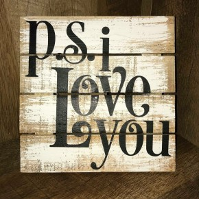 """""""PS I Love You"""" Pallet Decor with Stand"""