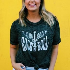 Rock and Roll Burnout Tee