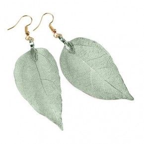 Leaf Earrings Green