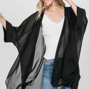 Sheer Black Kimono