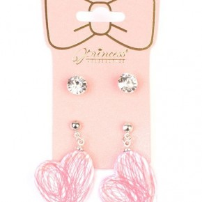 Kids 2 Pack Earrings Studs and Hearts