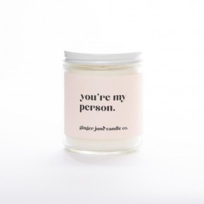 """""""You're My Person"""" Jar Candle"""