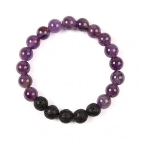 Purple Natural Stone Bracelet