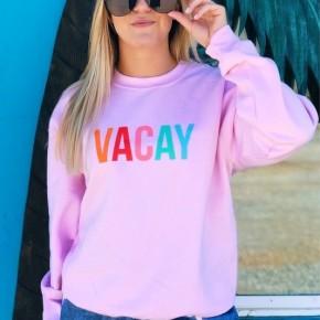 VACAY Pink Crew Sweatshirt