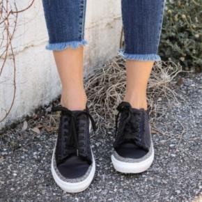 Ariel Black Lace Up Shoe