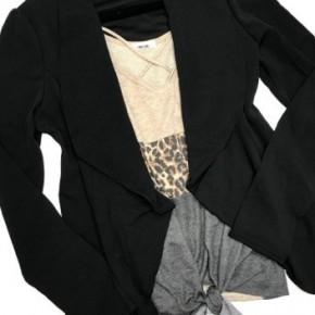 Black Stretchy Long Sleeve Blazer