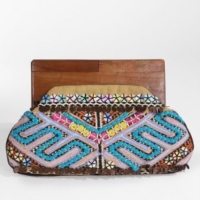 Embroidered Bead and Sequin Clutch