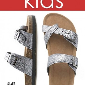 KIDS Silver Sparkle Strapy Sandals