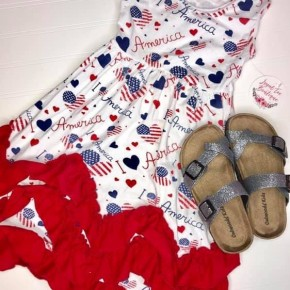 Girls Ruffle America Dress