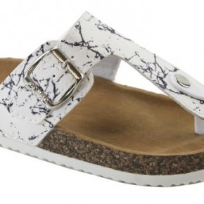 White Marble Sandals