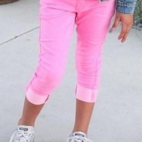 Kids Pink Capri