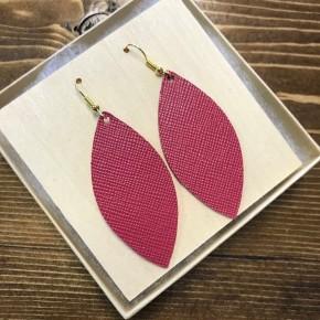 Handmade Leather Wine Earrings