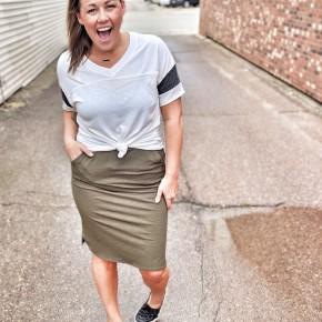 Jenny skirt (olive)