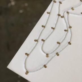 Billie white wrap necklace