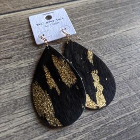 black drop earring