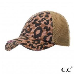 vintage cheetah pony cap