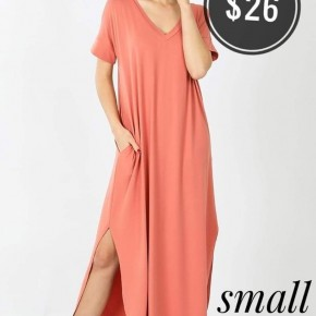 roxie maxi dress (ROSE)