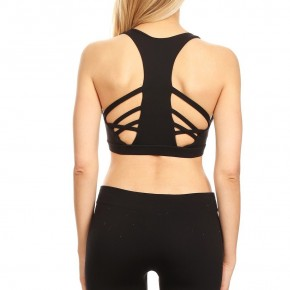 black design back bra