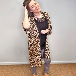 sexy leopard kimono