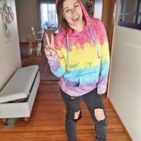 lulu rainbow sweatshirt BABES
