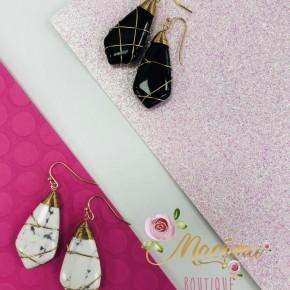 Wrapped Stone Earrings