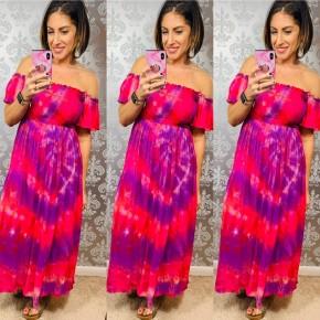 Pink Dream in Color Midi Dress