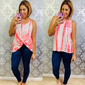 Pink Twist and Shout Tank