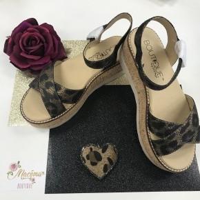 Metallic Leopard Fluffie Shoes