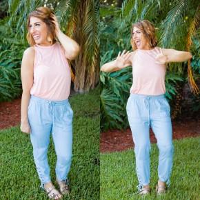 Golden Girl Chambray Pants