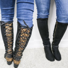 Black Leopard Annabel Boots