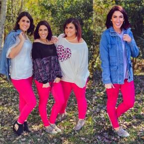 Judy Blue Hot Pink Skinnies