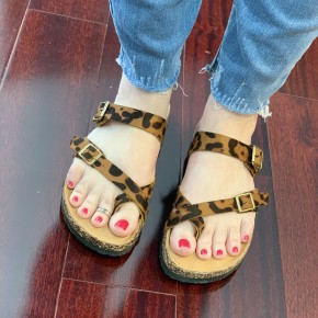 Sally Leopard Sandals