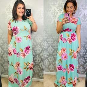Minty Fresh Maxi Dress