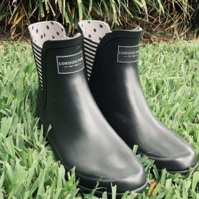 London Fog Black Rain Boots