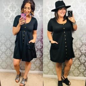 Macoma Sweet Like Candy Black Dress