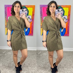 Stand Out Metallic Dress