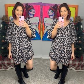 Trouble Maker Leopard Dress