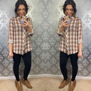 Double Sided Plaid Button Down