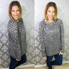 Let's Have Some Fun Leopard Pullover