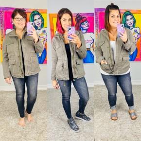 Judy Blue Grey High Waist Skinny Jeans