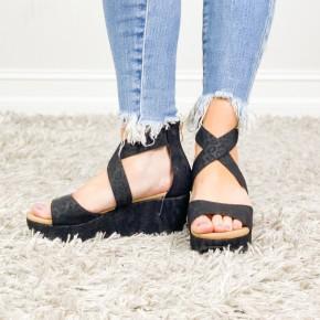 Black Leopard Fay Shoes