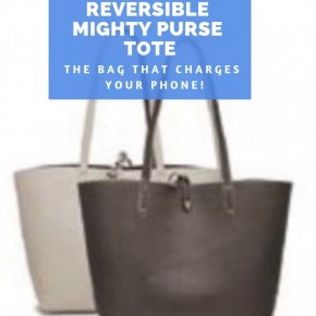 Pewter/Taupe Reversible Mighty Purse Tote