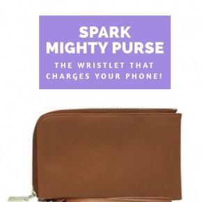Tan Spark Mighty Purse Wristlet