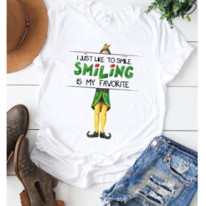 Smiling is My Favorite Graphic Tee