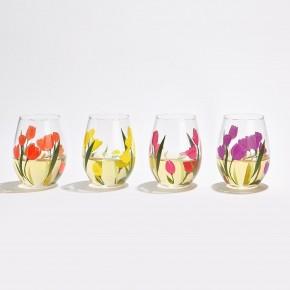 Tulip Stemless wine glass