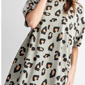 Animal print tee dress
