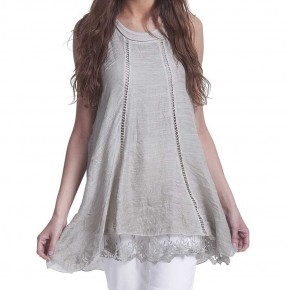 LACE BACK TUNIC LONG *Final Sale*