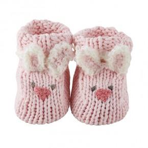 Pink Bunnie Knit booties *Final Sale*