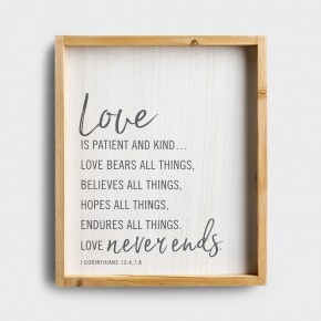 "Love Wood Wall decor 16""H x 13.5""W"