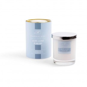 Pacific Orchid and Sea Salt  Luxury Glass Candle 8oz